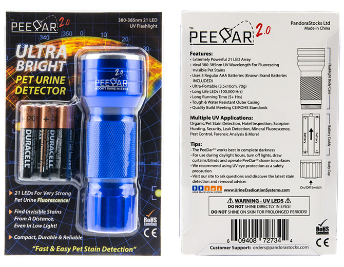 PeeDar 2.0 Packaging
