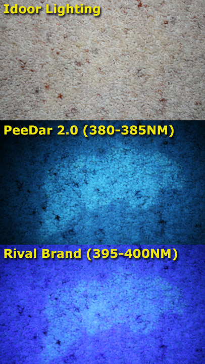 PeeDar 2.0 Dog Stains Example Comparison